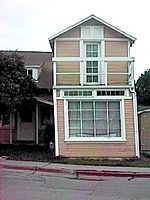 Effects of fault on 164 Locust Street, Hollister, California, February 2003