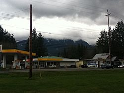 Gold Bar, Washington from State Route 2