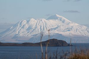 Mountain visible from Adak