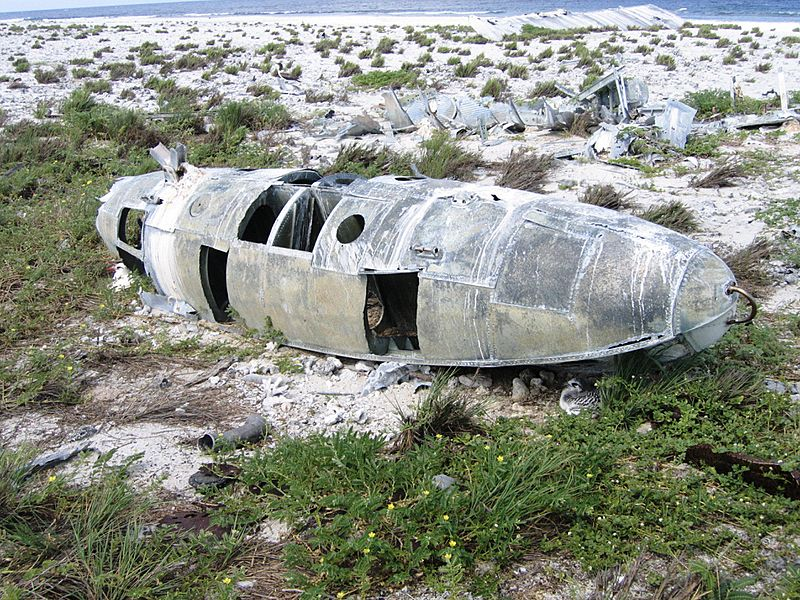 Plane wreckage on Howland Island