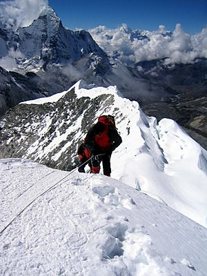 Summitting Island Peak
