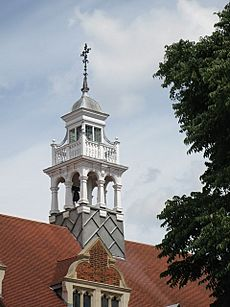The spire of St Michael and All Angels, Bedford Park, W4 - geograph.org.uk - 899072