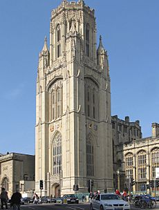 University of bristol tower after cleaning arp