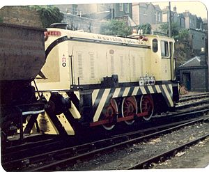 Western Fuels Diesel Locomotive at Bristol Docks Summer 1981