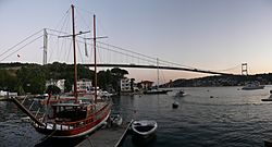 Fatih Sultan Mehmet Bridge panorama