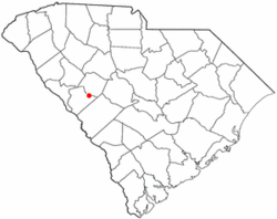 Location in Edgefield County, South Carolina