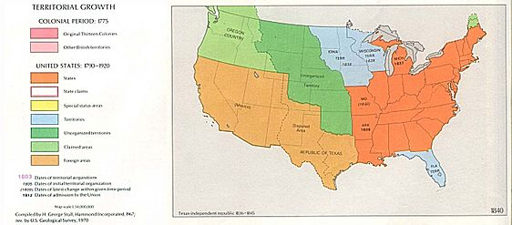 USA Territorial Growth 1840