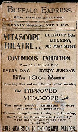 Vitascope Theater Buffalo Nov 1897 ad