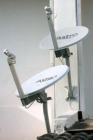 Astro satellite dishes