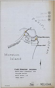 Cape Moreton - Plan Including North Point Hummock and Yellow Patch, 1927