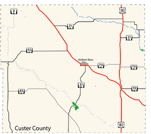 Custer County Map