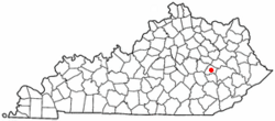 Location of Beattyville, Kentucky