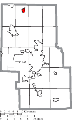 Location of Shiloh in Richland County