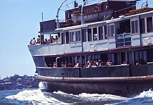 Sydey Ferry SOUTH STEYNE en route to Manly 30 December 1970