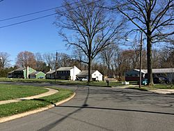 Homes along Bayberry Road in the Hickory Hill Estates section of Ewing, New Jersey