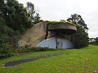 Drummond Battery gun emplacement 2 August 2020 - angled view