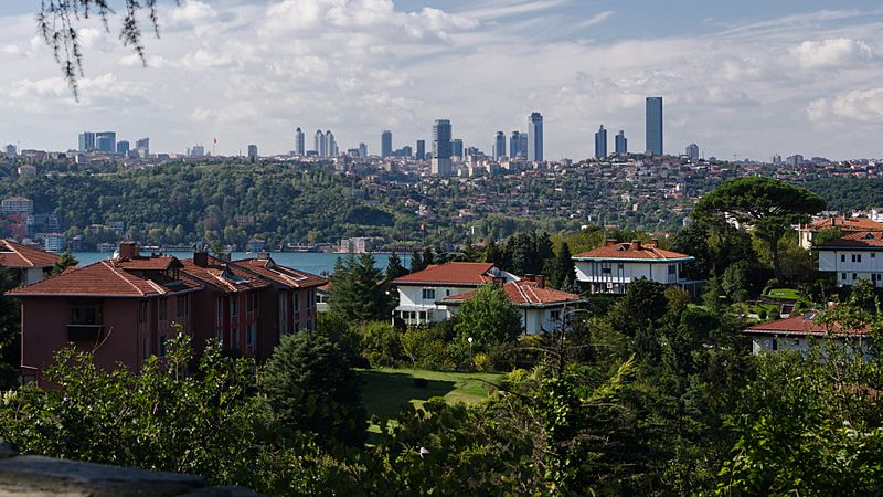 Istanbul Levent skyline