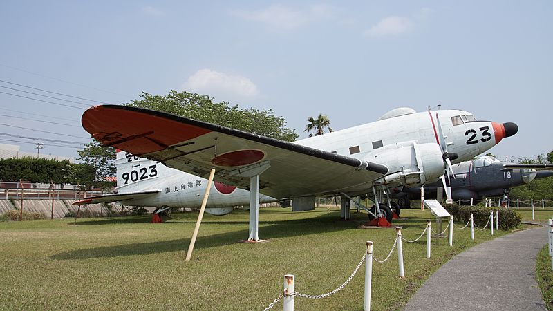 JMSDF R4D-6Q(9023) right front view at Kanoya Naval Air Base Museum April 29, 2017 02