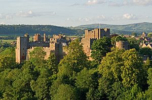 Ludlow Castle from Whitcliffe, 2011