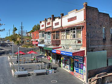 Meadowbank railway shops and outdoor eating area.jpg