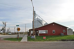 Reading Kansas community center and grain elevator