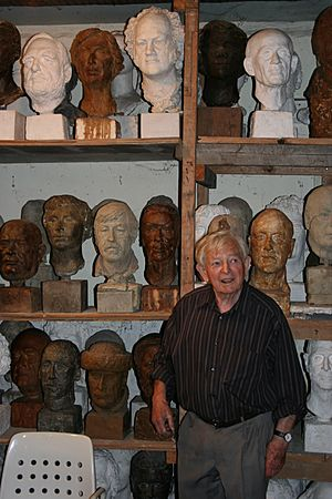 Rolf Brem with several portraits