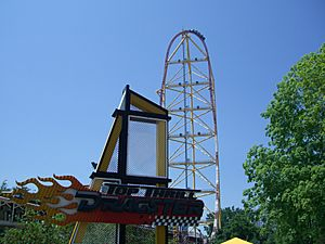 Top Thrill Dragster (Logo & Tower)