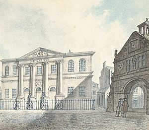 Town Hall Shrewsbury and the Old Market House, 1796