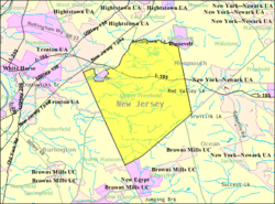 Census Bureau map of Upper Freehold Township, New Jersey