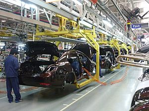 Geely assembly line in Beilun, Ningbo