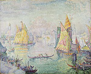 Paul Signac, 1905, The Lagoon of Saint Mark, Venice, oil on canvas, 129.5 x 162.6 cm, Chrysler Museum of Art