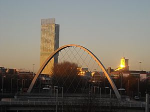 Hulme Arch Beetham in sunset