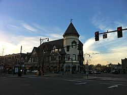 Intersection of Harvard and Beacon Streets, Coolidge Corner, Brookline, MA