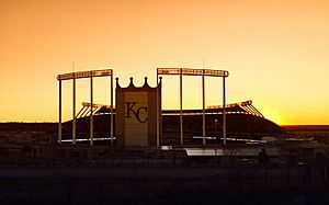 Kauffman Stadium Sunset