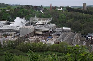 Looking down on Wansborough Papermill (geograph 1928760)