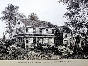 Shreve homestead at Mount Pleasant