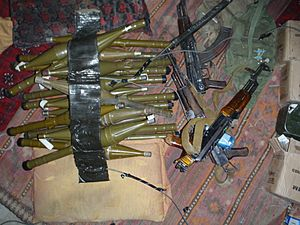 Contraband weapons in Afghanistan