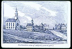 Center of town in 1838