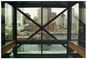 View of Downtown Boston from The Computer Museum elevator