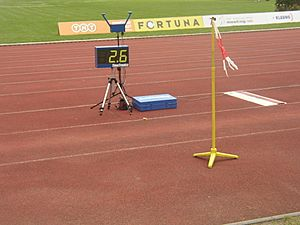 Wind indicator in long jump area at TNT - Fortuna Meeting in Kladno 16June2010 118