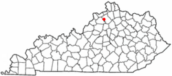 Location of Gratz, Kentucky