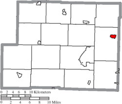 Location of Hopedale in Harrison County