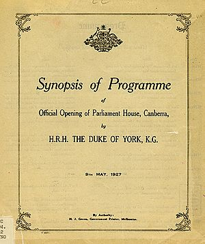 OPH opening programme