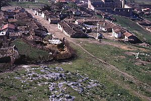 Selçuk village and Isa Bey mosque from the castle in 1970