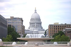 Wisconsin State Capitol from Monona Terrace