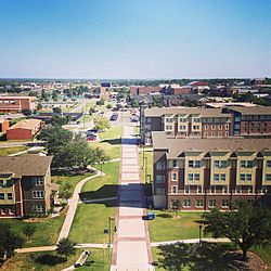 View of the Texas A&M University–Commerce campus