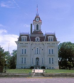 Chase County Courthouse designed by Kansas State Capitol architect John G. Haskell
