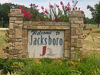 Jacksboro, TX sign Picture 2219