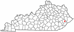 Location of Pippa Passes, Kentucky