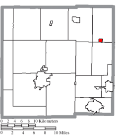 Location of Tiro in Crawford County